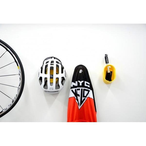 Nástenný stojan na cyklistické doplnky Cycloc Loop, žltý