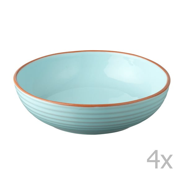 Sada 4 misiek Jamie Oliver 23 cm, modrá