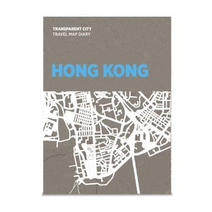 Mapa na popisky Palomar Transparent City Hong Kong