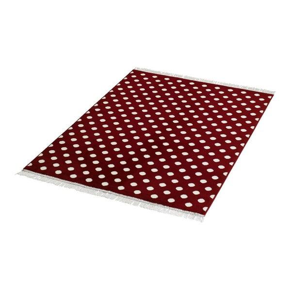 Koberec Fringe - červený, 140x200 cm