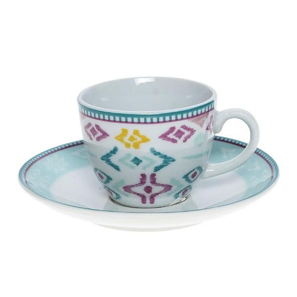 Set porcelánových hrnčekov a tanierikov Mint, 6 ks (100 ml)