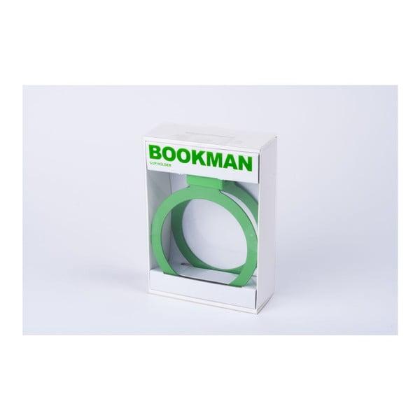 Zelený držiak na pohárik Bookman