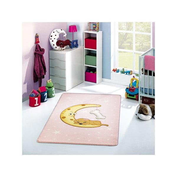 Detský koberec Moon Pink, 133x190 cm