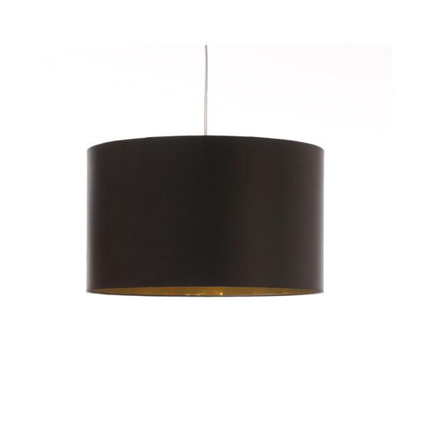 Čierno-zlaté stropné svetlo Artist, variabilná dĺžka, Ø 42 cm