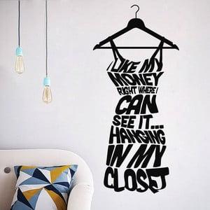 Dekoratívna samolepka Dress on Hanger, 57x26 cm