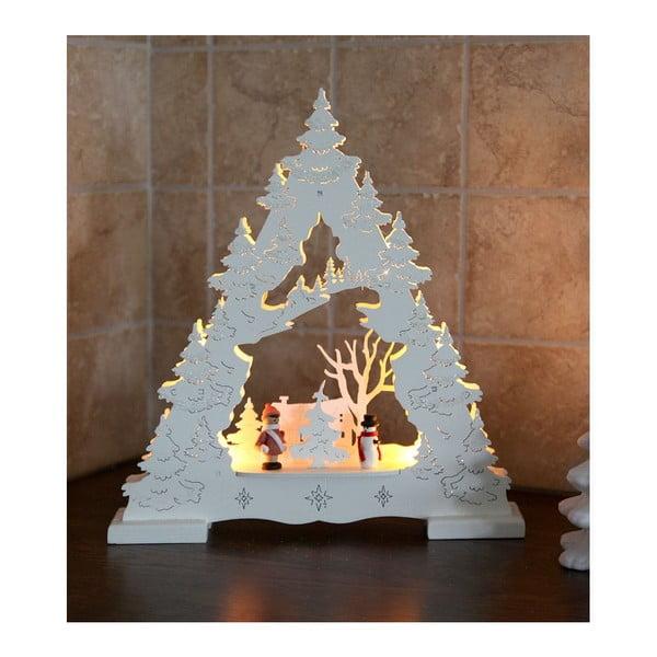 Svietiaca dekorácia White Tree with Glitter
