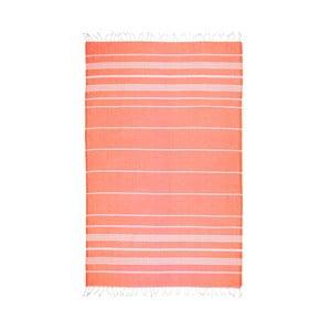 Oranžová hammam osuška Kate Louise Classic, 180x100cm