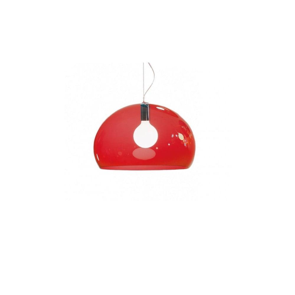 Červené stropné svietidlo Kartell Fly, ⌀ 52 cm