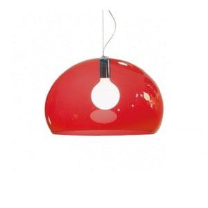 Červené stropné svietidlo Kartell Fly