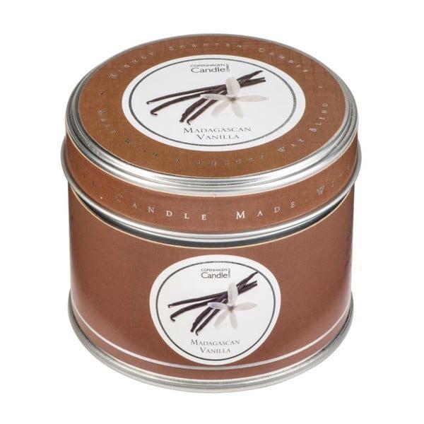 Aróma sviečka v plechovke s vôňou madagaskarskej vanilky Copenhagen Candles, doba horenia 32 hodín