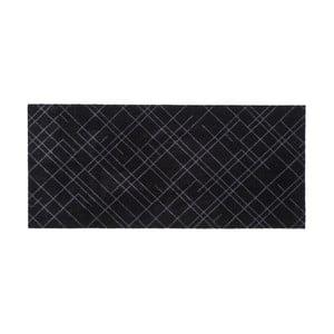 Čierno-sivá rohožka Tica Copenhagen Lines, 67 x 150 cm