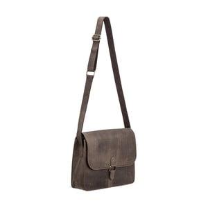 Sivá kožená taška cez rameno Packenger Aslang