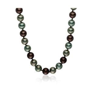 Sivo-zelený perlový náhrdelník Pearls Of London Mystic, dĺžka 50 cm