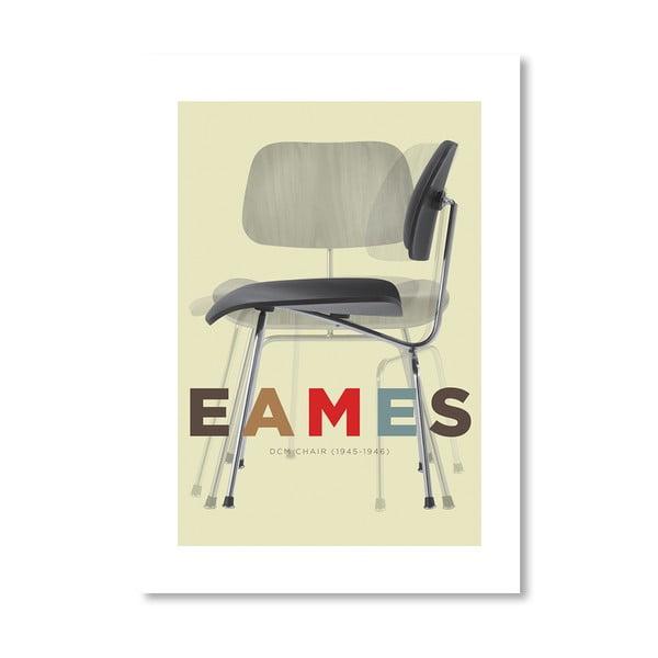 Autorský plagát Eames DCM Chair