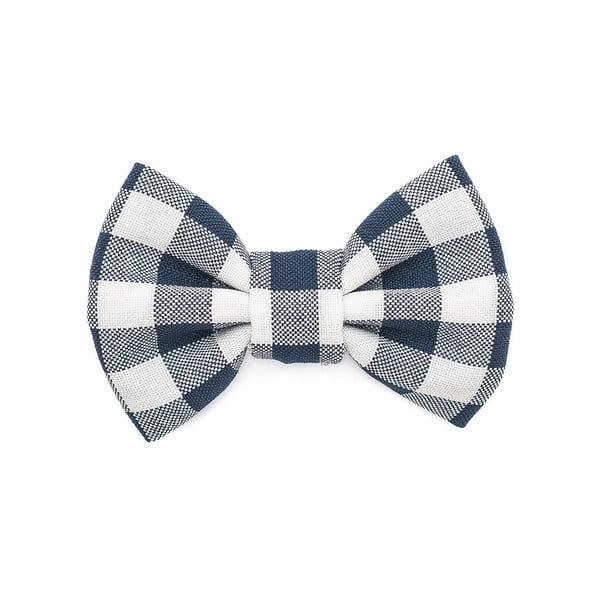 Modrý károvaný charitatívny psí motýlik Funky Dog Bow Ties, veľ. L