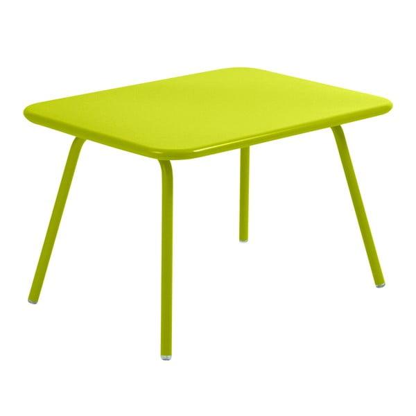 Limetkovozelený detský stôl Fermob Luxembourg