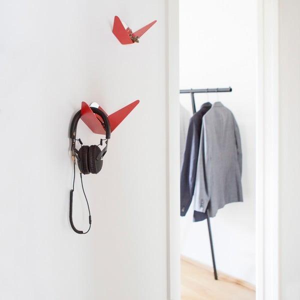Vešiak s úložným priestorom Butterfly, ružový, 11,4x10,9 cm