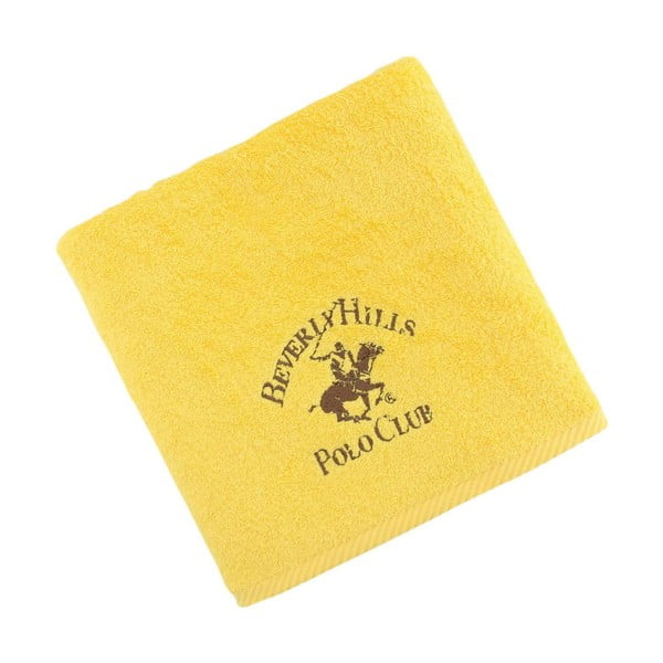 Žltý bavlnený uterák BHPC, 50x100cm
