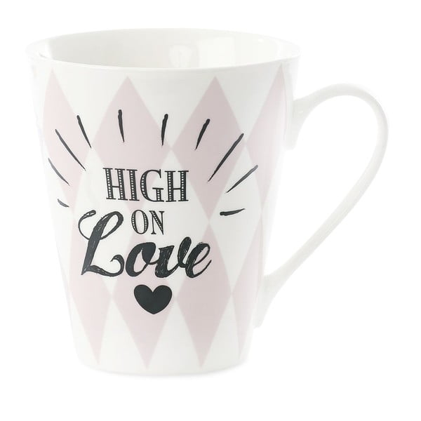 Porcelánový hrnček Miss Étoile Coffee High on Love