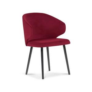 Červená jedálenská stolička so zamatovým poťahom Windsor & Co Sofas Nemesis