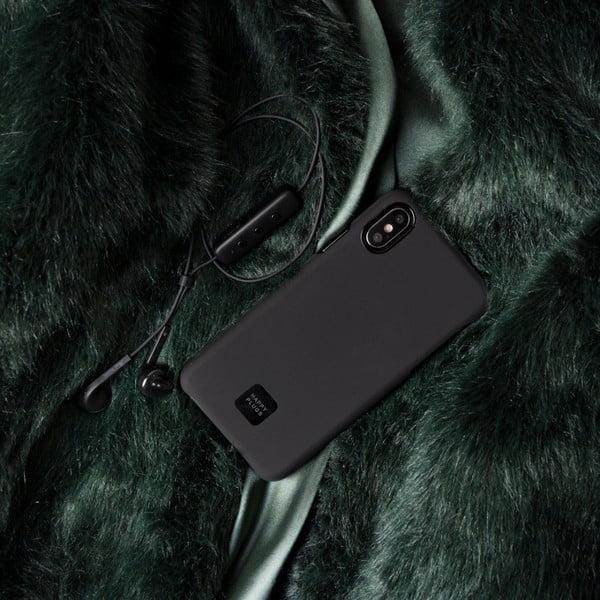 Čierny kryt na telefón pre iPhone X a XS Happy Plugs Slim