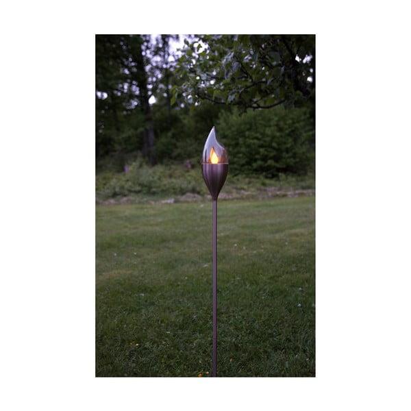 Vonkajšie solárne LED svietidlo z nerezovej ocele v medenej farbe Best Season Olympos