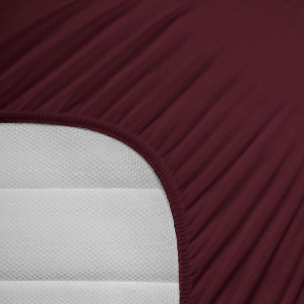 Bordová elastická plachta Homecare, 190-200 x 200-220 cm