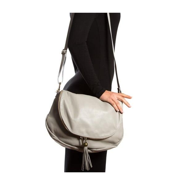 Kožená kabelka Isabella Rhea 2053, sivá