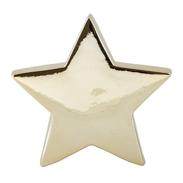 Dekoratívna keramická soška v zlatej farbe KJ Collection Ceramic Star, 19 cm