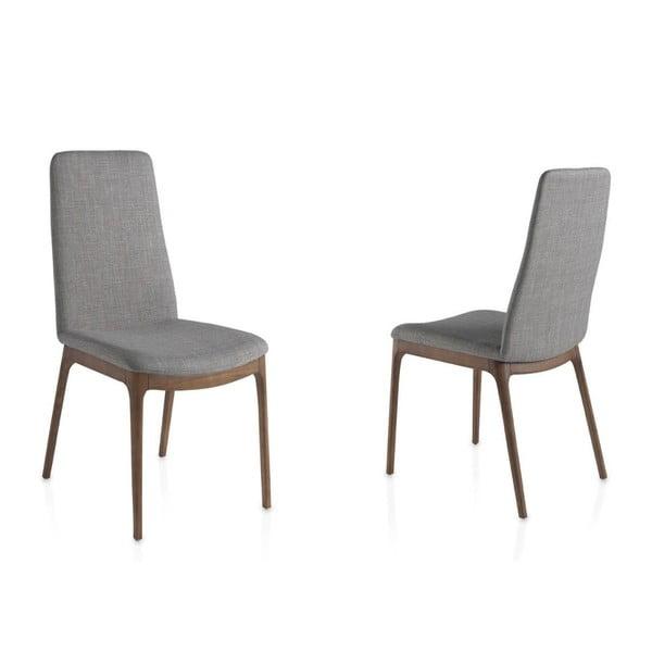 Sada 2 jedálenských stoličiek s podnožou z orechového dreva Ángel Cerdá Camile