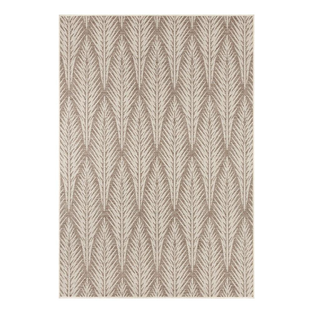 Hnedobéžový vonkajší koberec Bougari Pella, 70 x 140 cm