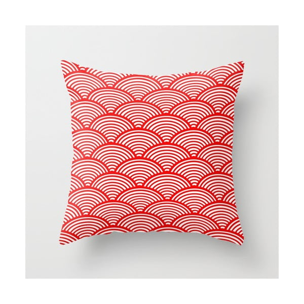 Obliečka na vankúš Red Waves, 45x45 cm