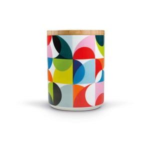 Porcelánová dóza s dreveným vrchnákom Remember Solenie, 1,62×⌀1,25 cm