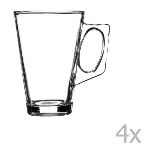 Sada 4 pohárov na latte Essentials, 240 ml