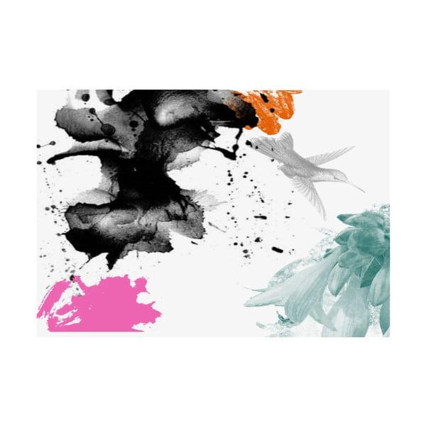 Koberec z vinylu Splash con Pájaro, 99x120 cm