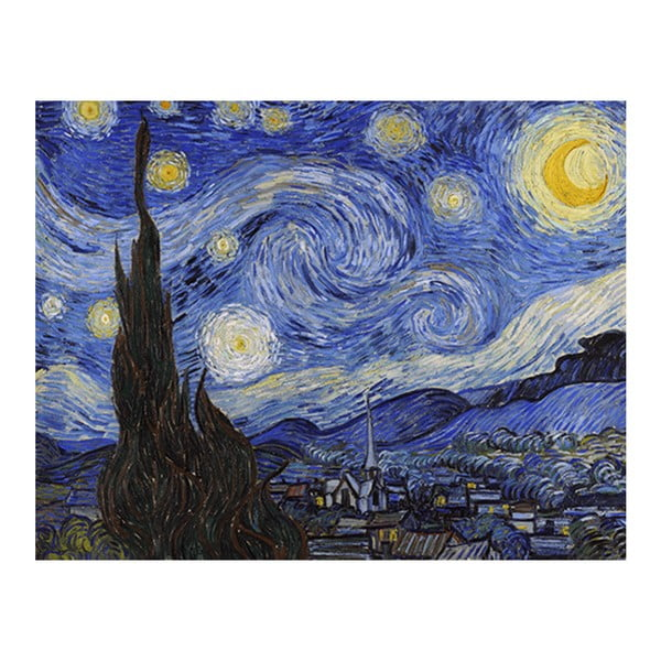 Obraz Vincenta van Gogha - Starry Night, 50x40 cm