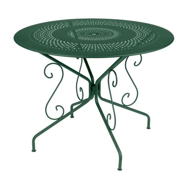 Zelený kovový stôl Fermob Montmartre, Ø96cm