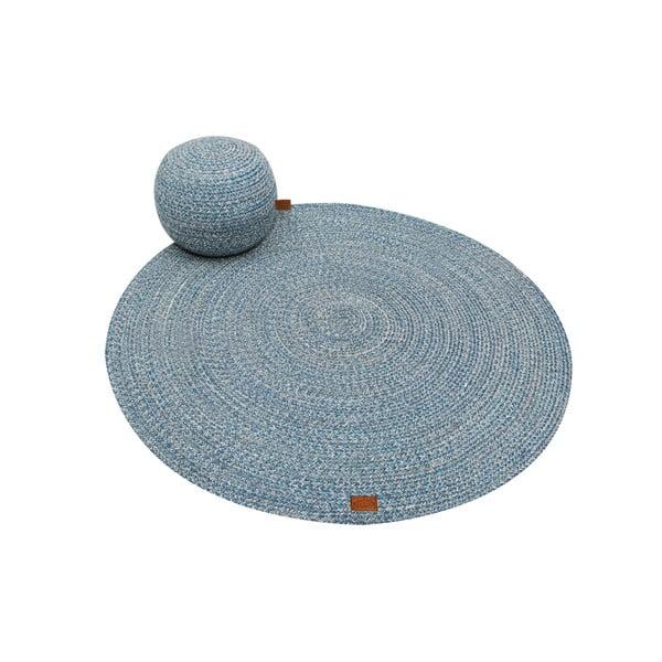 Petrolejovomodrý okrúhly koberec Hawke&Thorn Parker