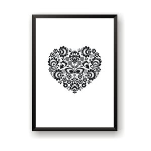 Plagát Nord & Co Floral Heart, 21 x 29 cm