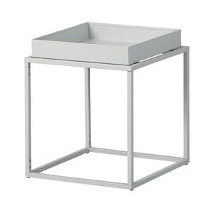 Sivokovový odkladací stolík Intersil Club NY