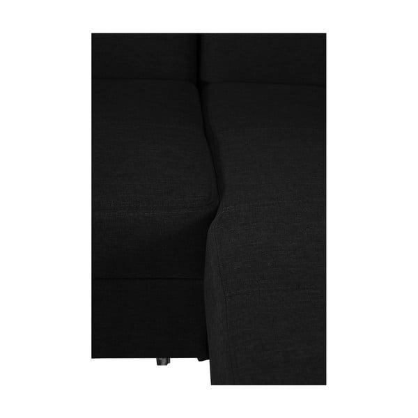 Čierna rozkladacia pohovka Modernist Icone, pravý roh