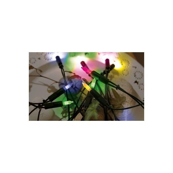 Svietiaca reťaz Best Season Lightchain Multi Green, 35 svetielok