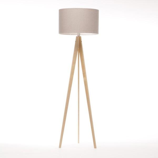 Krémová stojacia lampa 4room Artist, prírodná breza, 150 cm