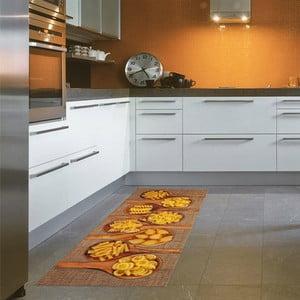 Vysokoodolný kuchynský koberec Pasta, 60x110 cm