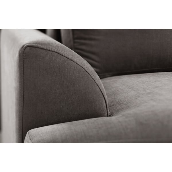 Trojdielna sedacia súprava Jalouse Maison Irina, tmavohnedá