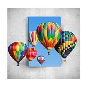 Nástenný 3D obraz Mosticx Colourful Air Balloons, 40×60 cm