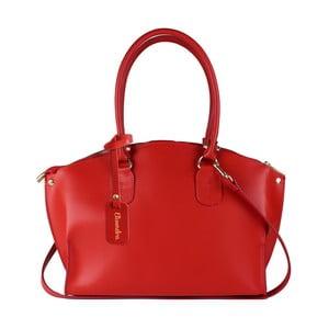 Červená kožená kabelka Maison Bag Mary