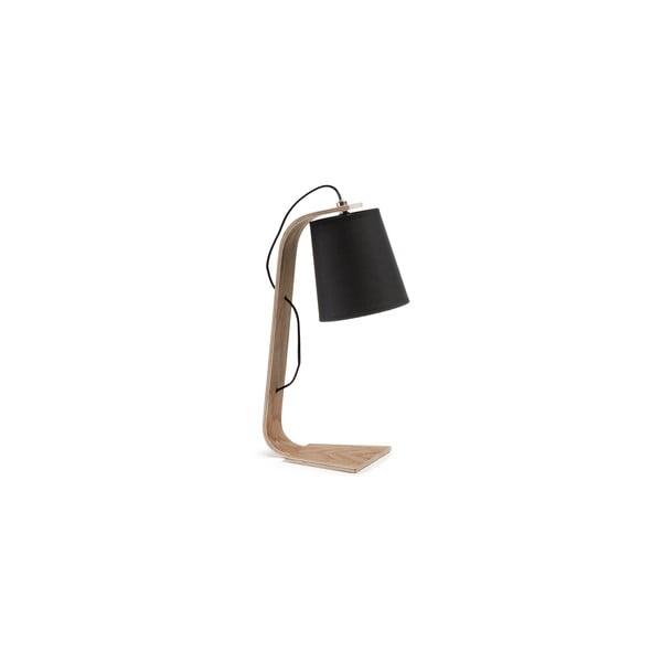 Čierna stolová lampa La Forma Percy