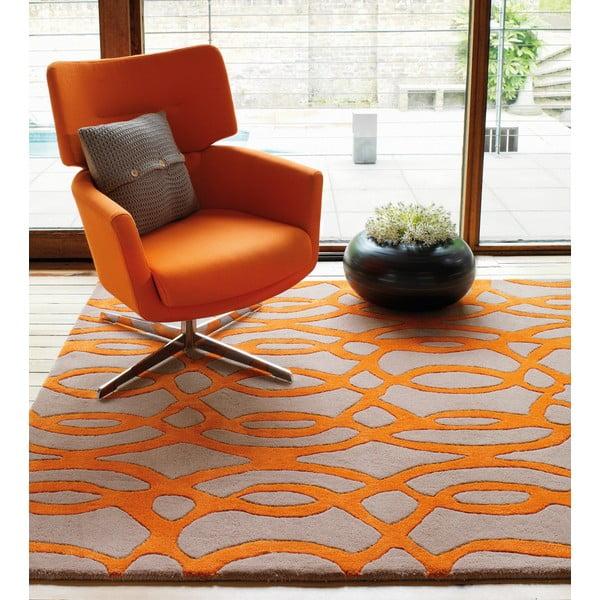 Vlnený koberec Wire Orange 120x170 cm