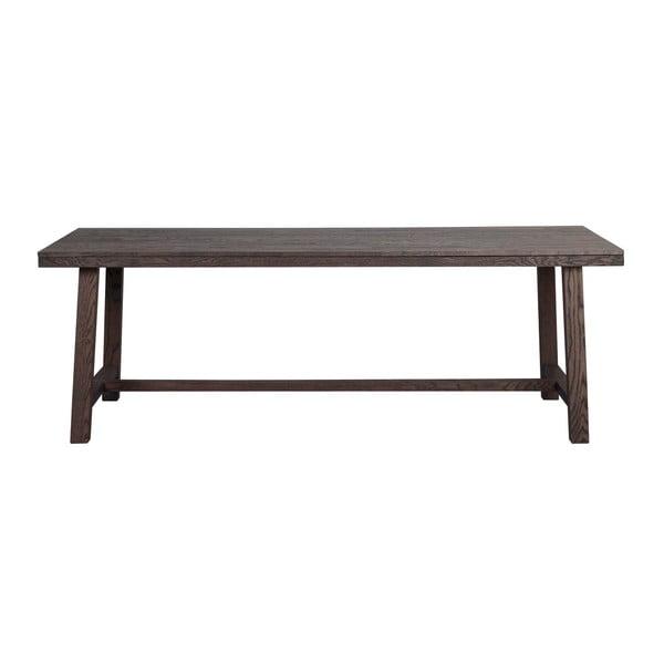 Tmavohnedý dubový jedálenský stôl Folke Brooklyn